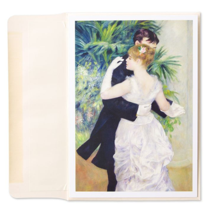 "Picture of Renoir's painting, ""Dance in the City,"" on a card by Papyrus"