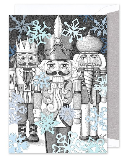 A picture of a Nutcracker card designed by Ron Butt for FineStationery