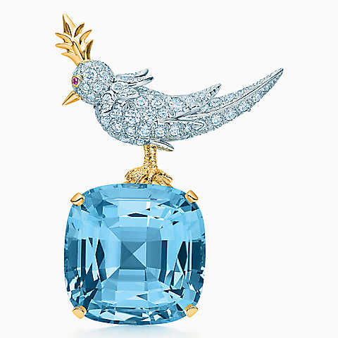 Picture of a Tiffany brooch with diamonds
