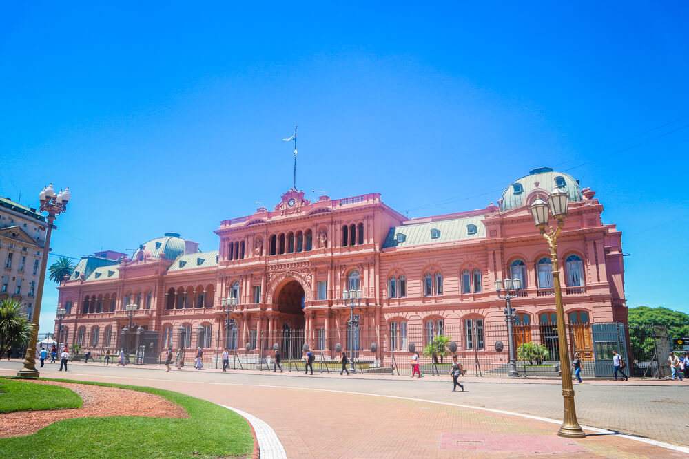 Picture of the Casa Rosada in Buenos Aires
