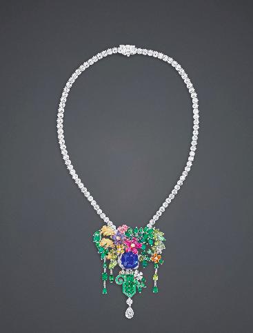 Picture of Christian Dior multi-colored diamond brooch
