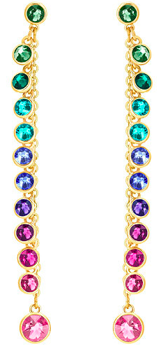 Picture of multi-colored Swarovski earrings