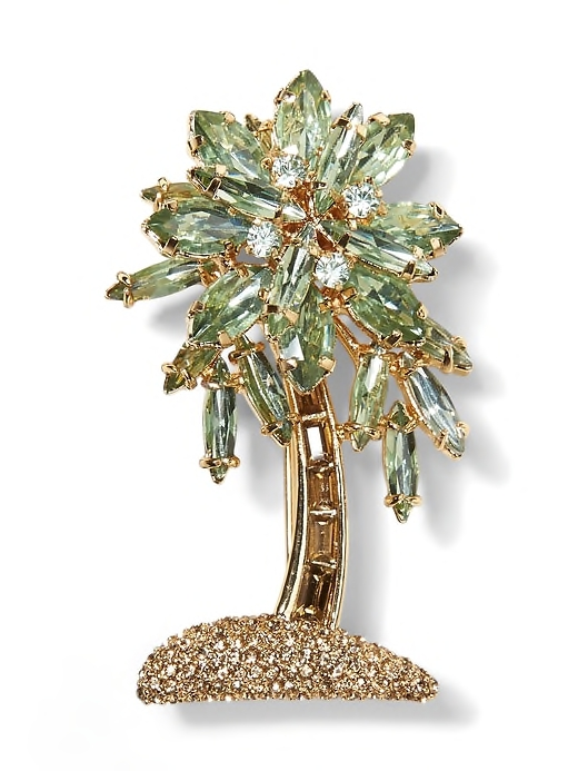 Picture of a jeweled palm leaf brooch by Banana Republic