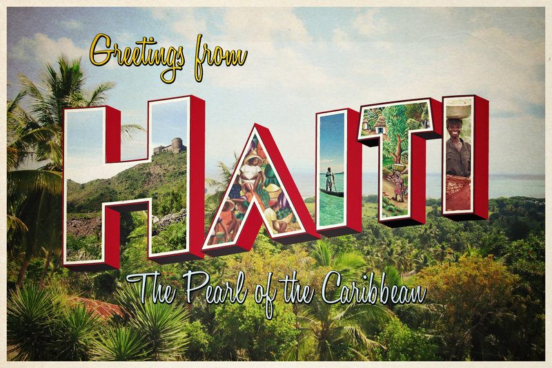 Postcard of Haitian landscape by FictionChick