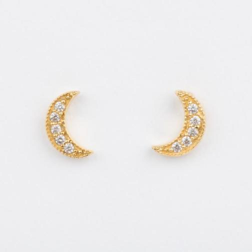 Picture of luna half moon stud earrings by Leah Alexandra for Local Eclectic