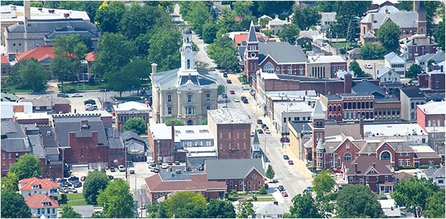 Picture of downtown Greenville, Ohio
