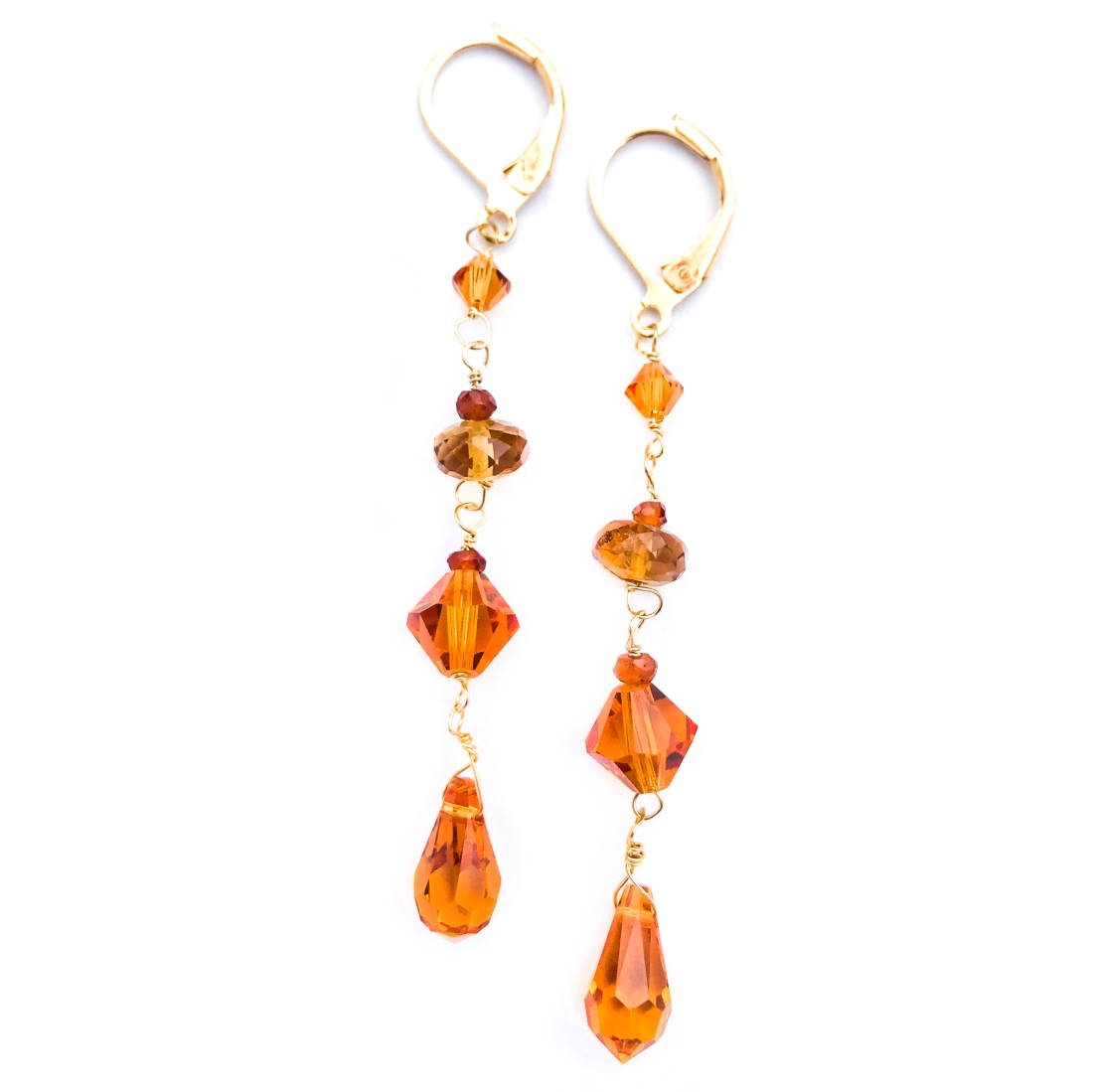 Picture of citrine drop earrings by Andrea Leitch